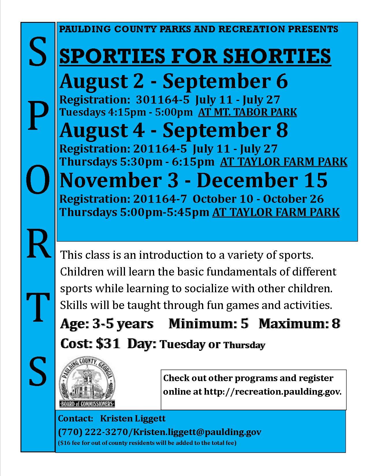 Sporties For Shorties Paulding County Uncensored