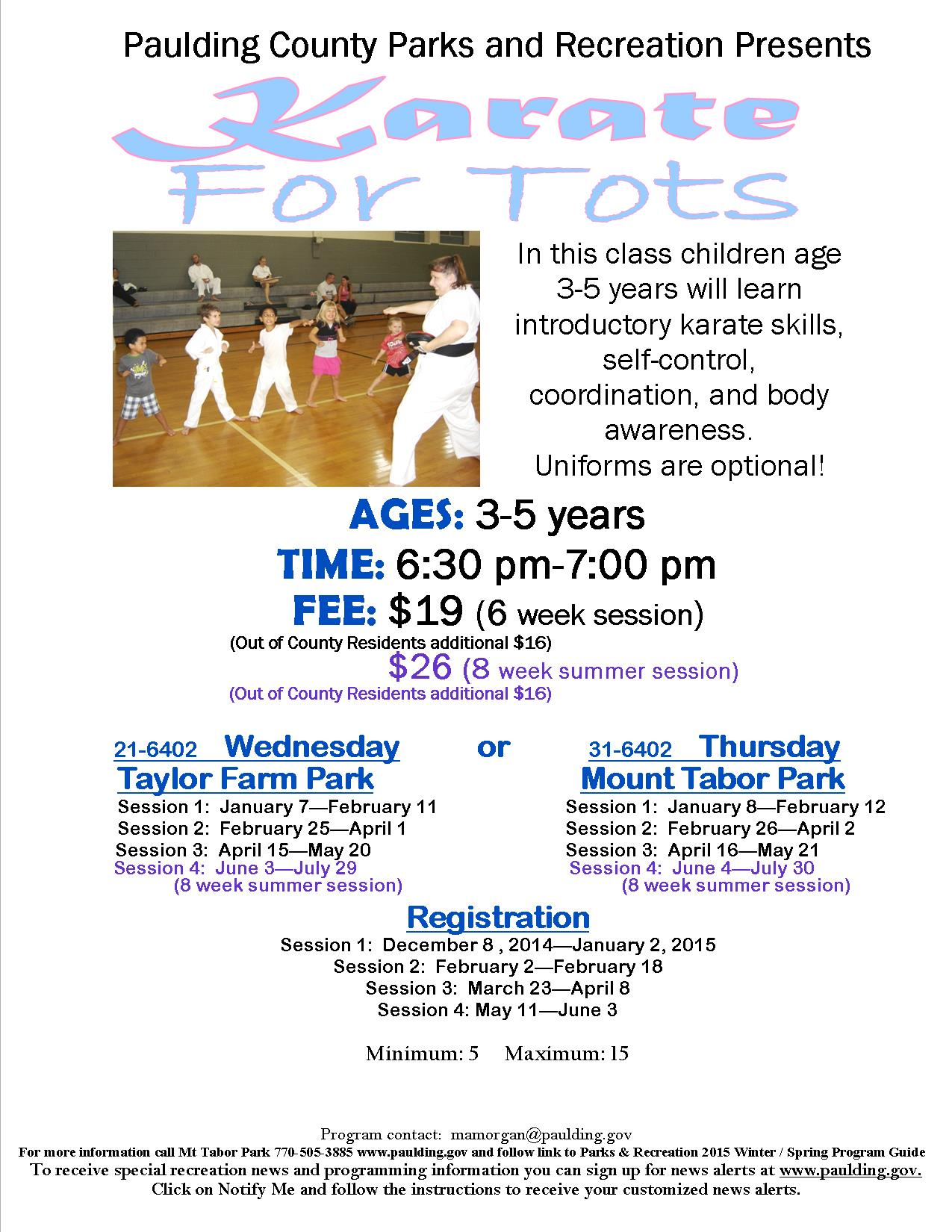 Karate For Tots 2015 Paulding County Uncensored