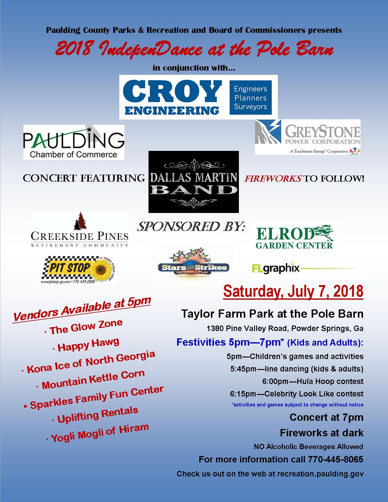 Pcprd Independance Fireworks Event Paulding County Uncensored